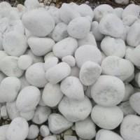 Камень декоративный природный натуральный галька / Snow white pebbles / Турция / 2-4 см.